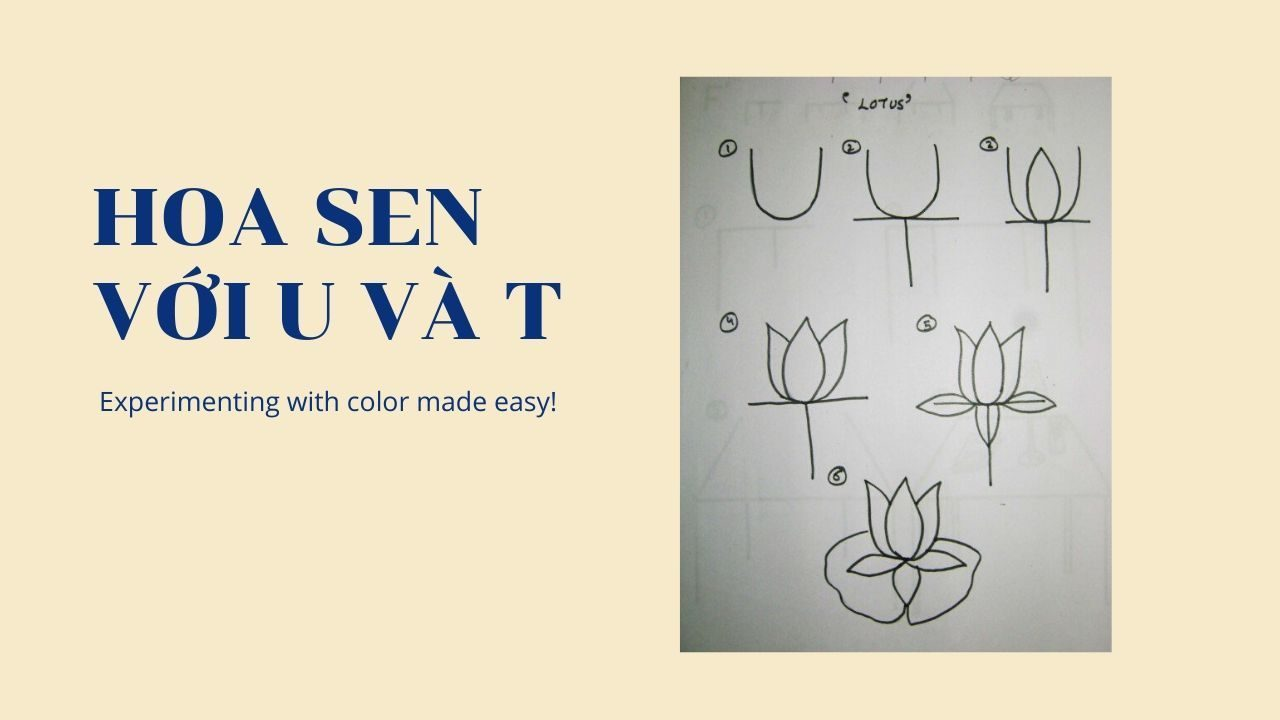 A Lotus Flower with U and T