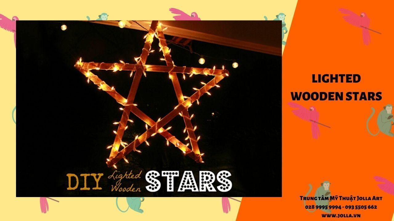 Lighted Wooden Stars
