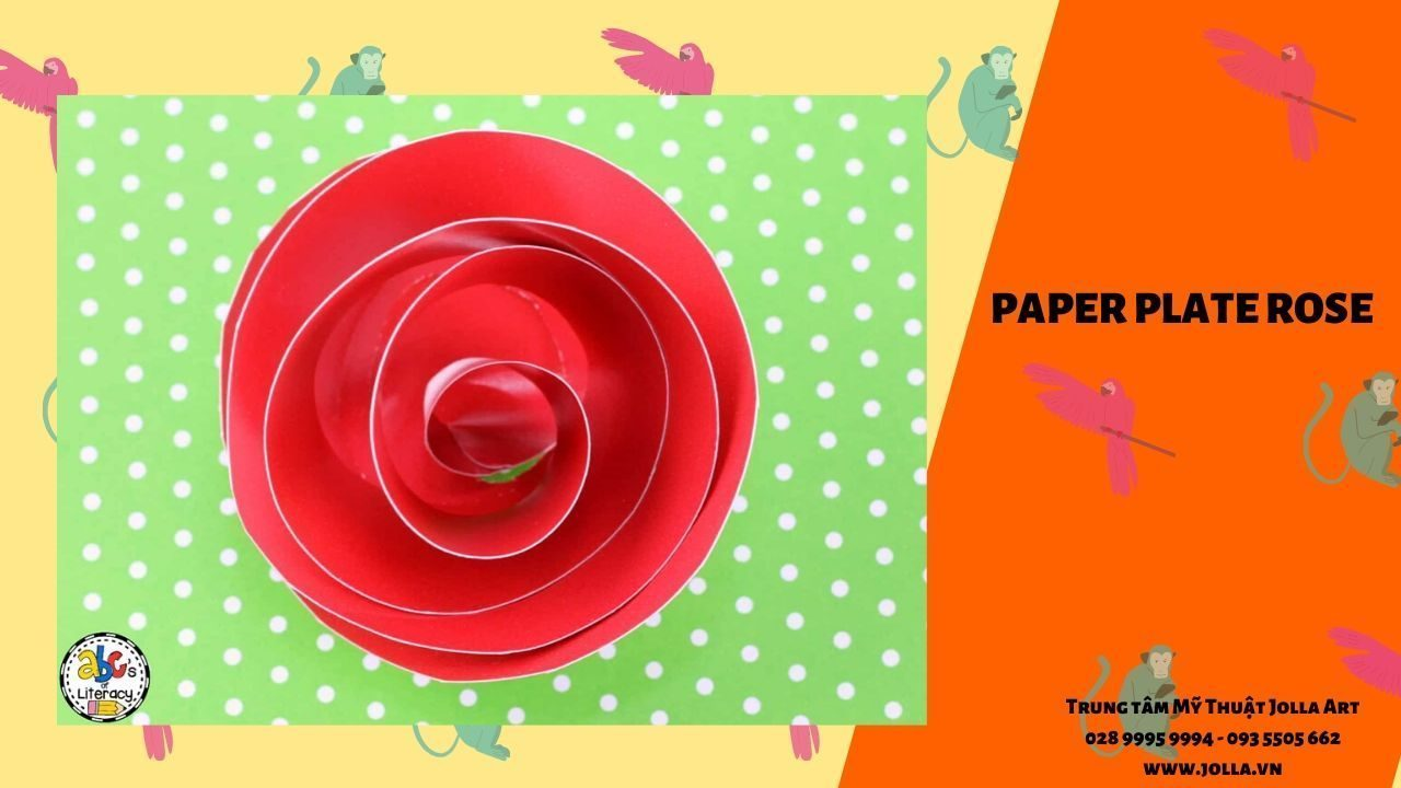 Paper Plate Rose